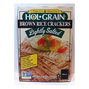 Hol Grain Brown Rice Crackers Lightly Salted