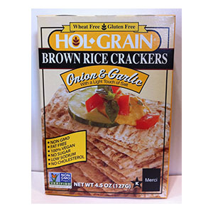 Hol Grain Brown Rice Crackers