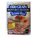HOL-GRAIN Brown Rice Crackers w/Sesame Seeds Lightly Salted