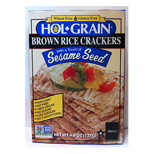 Hol Grain Brown Rice Crackers Sesame Seed