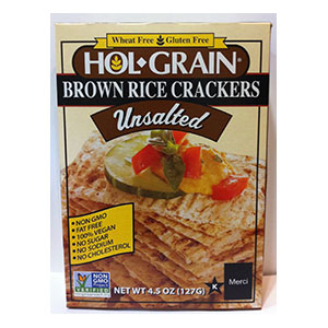 Hol Grain Brown Rice Crackers, Konriko
