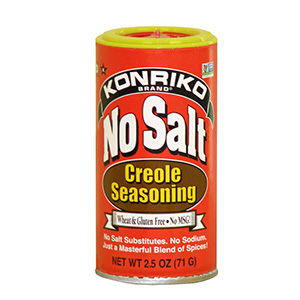 Konriko No Salt Creole Seasoning, Non-GMO, Wheat Free, Gluten Free
