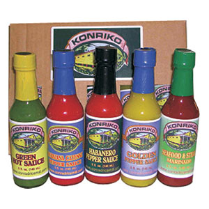 Konriko 5 pack Pepper Sauces